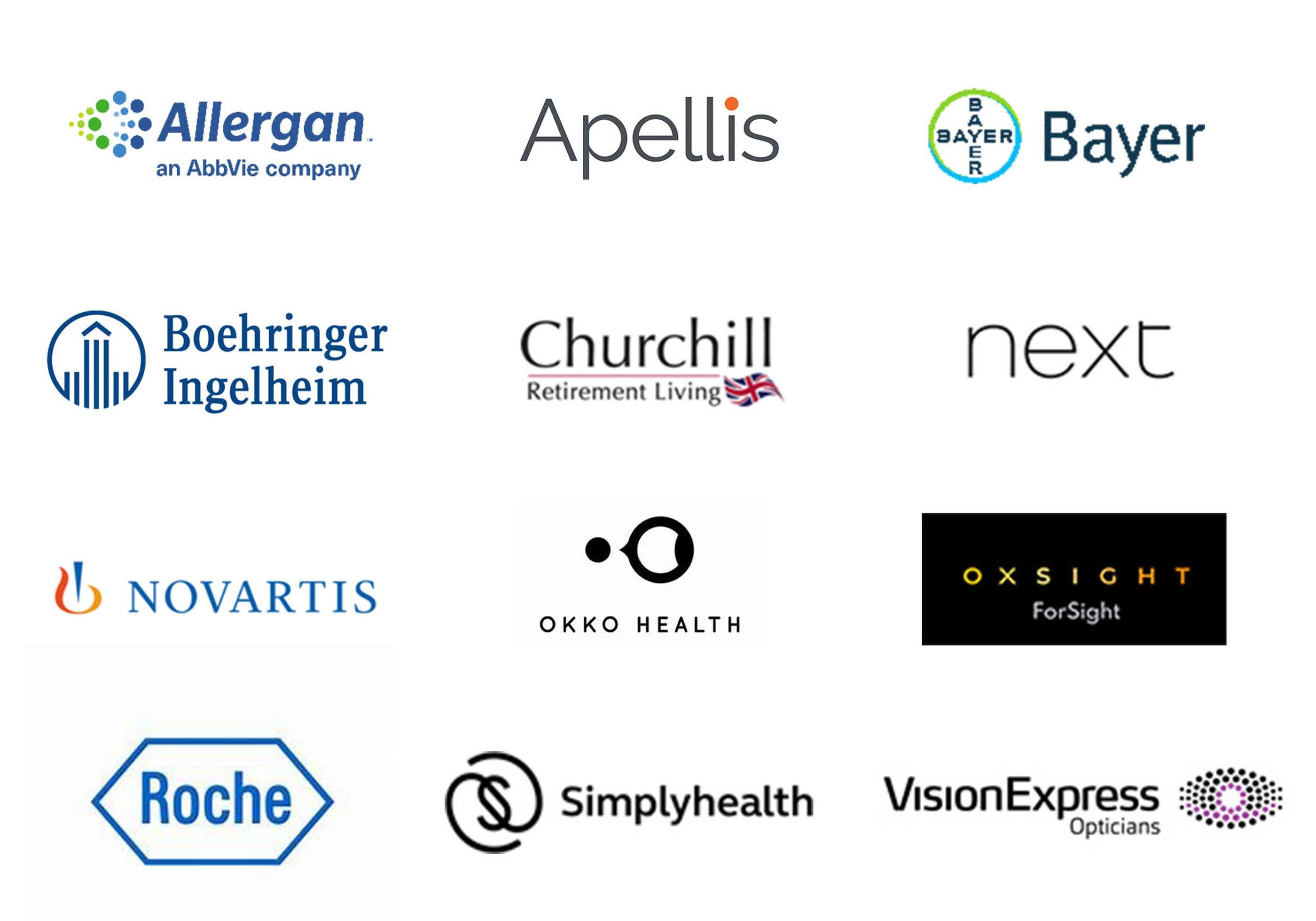 Corporate supporters' logos