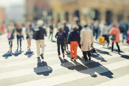 Blurred picture of people out and about