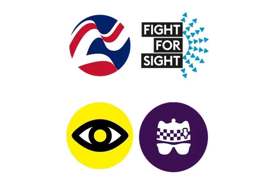 Images of the four charity logos