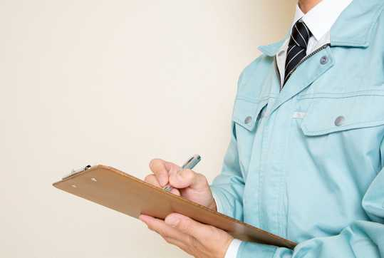 Researcher with clipboard