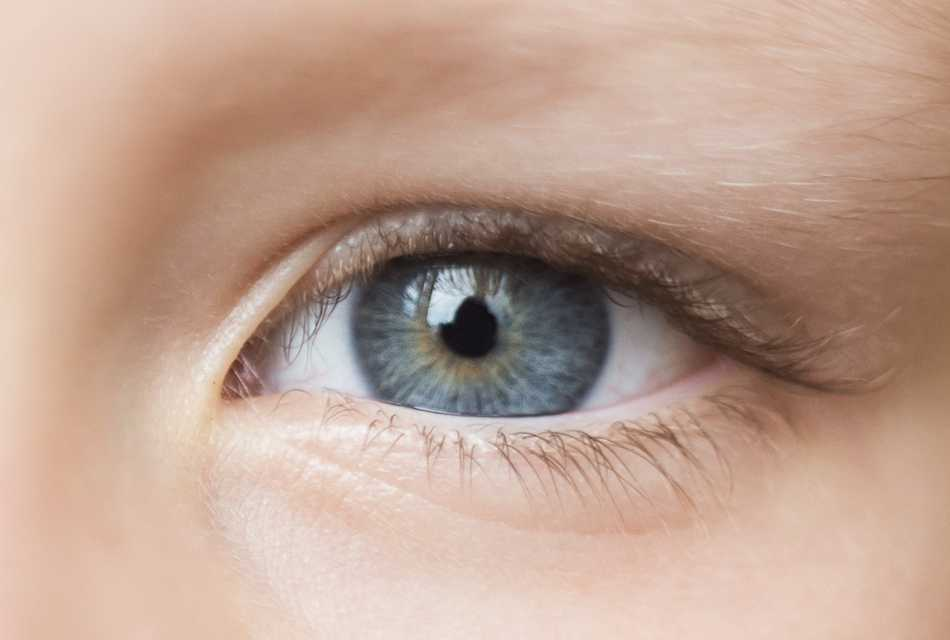Close up of young boys eye
